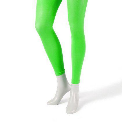 Brighten up #StPatricksDay in Neon Green Footless Tights