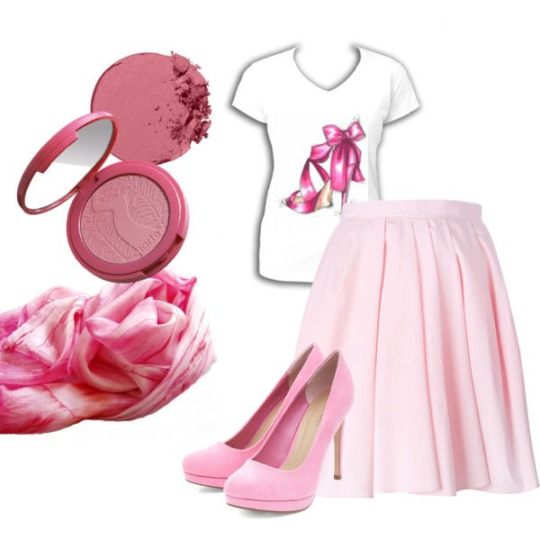 Soft pinks by dorinus on Polyvore featuring Carven and tarte