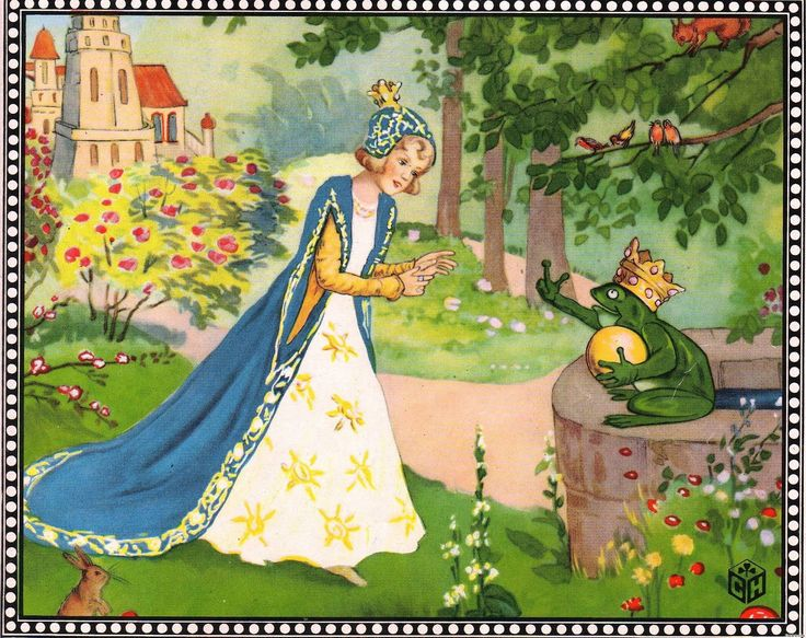 """The Frog Prince Illustration, Illustration for """"The Frog Prince"""". """"The Frog Prince"""" is a fairy tale, best known through the Brothers Grimm's written version."""