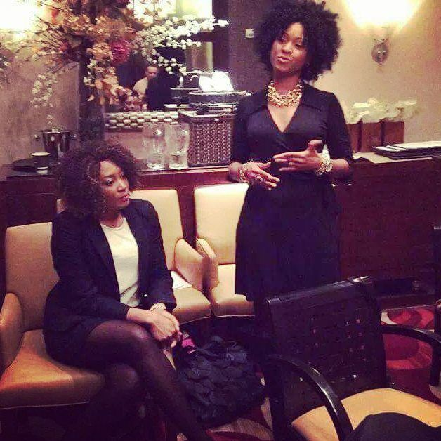 #tbt Listening to my friend CEO of @glammgirls at the #IWD 2014 executive women's roundtable event hosted by @lovinahskincare. Thank you Kim Handy for sharing your wisdom and inspiration   ____ Strong women stand together when things are rough hold each other up when they need support and laugh together when there's no reason to . _____ Thank you to all the strong women that's been by my side always...My strength grows with your support  love.