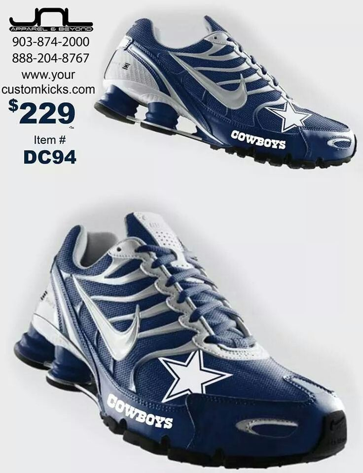 newest cc7cc 1a1f0 Custom Dallas Cowboys Nike Turbo Shox Team Shoes (these are awesome!