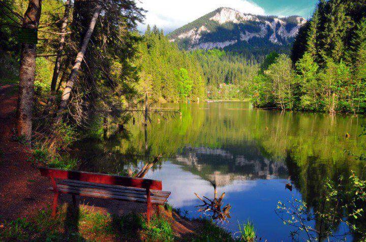 The Red Lake, Harghita, Romania.