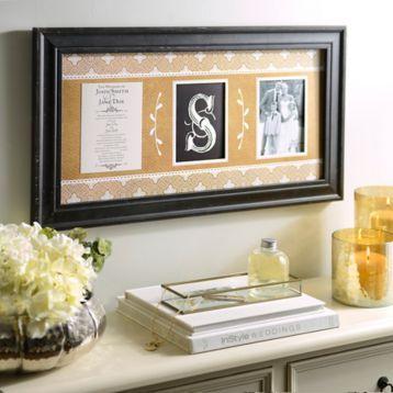 Monogram Wedding Invitation Collage Frame