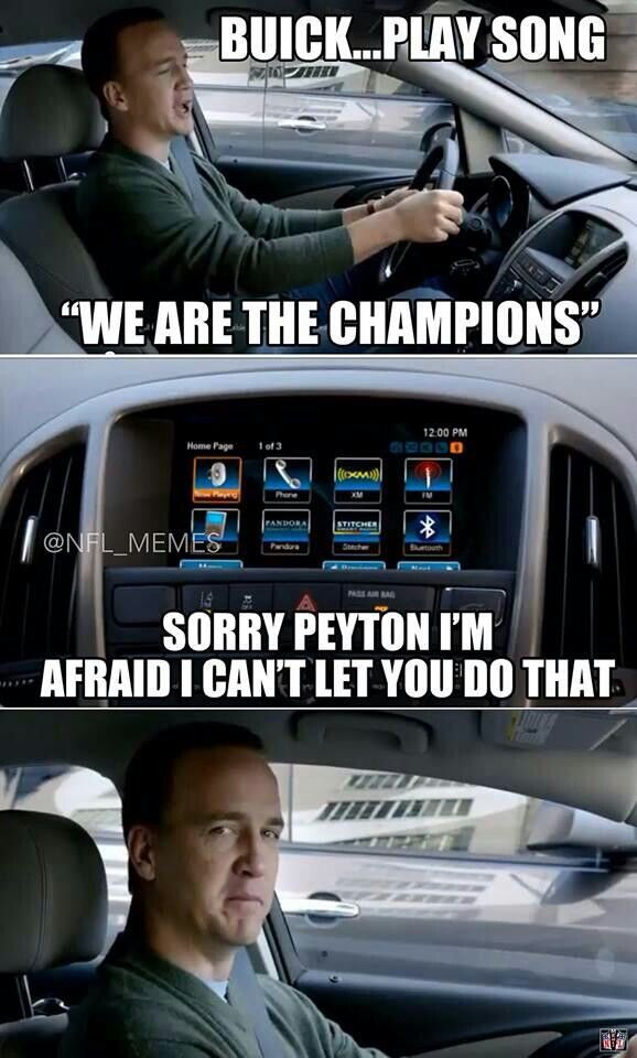 And I love Peyton Manning...no matter what happens in football. He is a living legend & class act. Fuck the haters!!