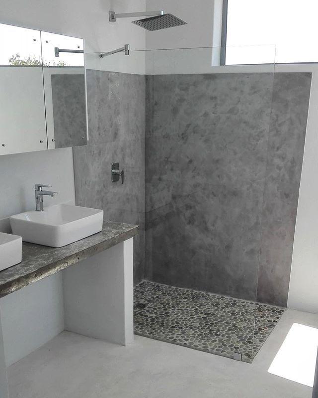 Pebbles for bathroom floor