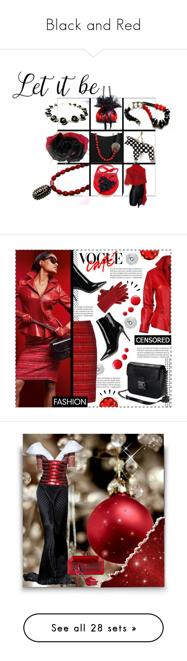 """Black and Red"" by alidishu ❤ liked on Polyvore featuring MATÌ, Bandolera, LetItBe, Improvements, Gianvito Rossi, Topshop, Old Navy, jewelry, earrings and red coral earrings"