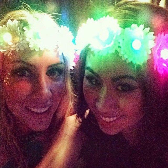 LED Flower Headbands #twinning