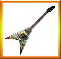 The Dean Dave Mustaine VMNTX United Abominations is an affordable Mustaine signature model decked out in the graphics from Megadeth's 2007.