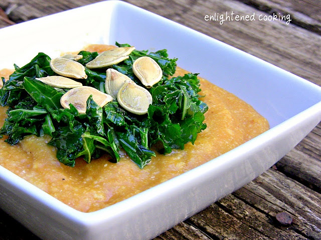 Pumpkin Polenta w/ Sauteed Kale | Food & Drinks to Try | Pinterest