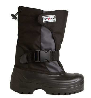 Stonz Winter Bootz - Grey/Black These super lightweight Winter Boots are  designed with kids