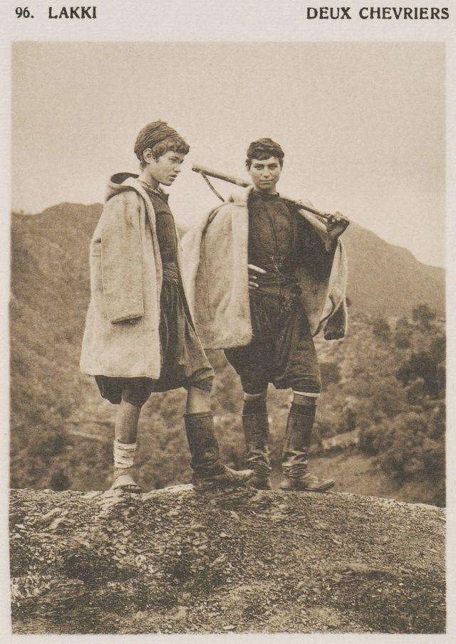 Νομός Χανίων, 1919, Δύο νεαροί βοσκοί στους Λάκκους