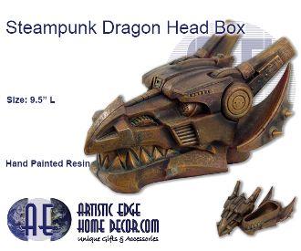 Steampunk Dragon Head Box