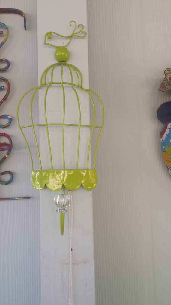 small wired hanging  half rack bird  cage by funfindingsforsale