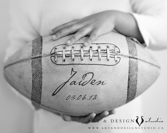 Personalized boys room art  Football Sports by inspiredartprints, $37.50