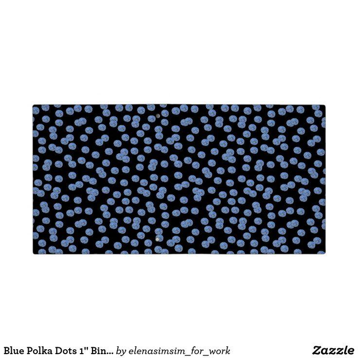 Blue Polka Dots 1'' Binder