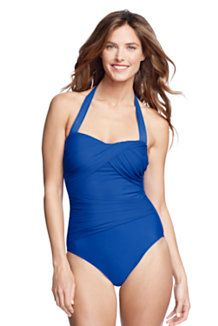Women's Blue One-piece Swimsuits from Lands' End