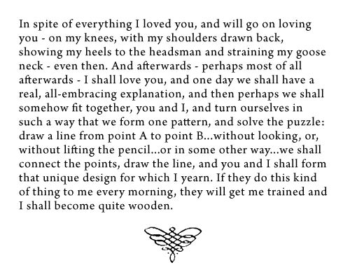 """""""Invitation to a Beheading"""" by Vladimir Nabokov. One of my favorite quotes ever."""
