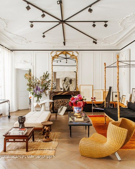"Eye-Candy Interiors from Carlos Mota's ""A Touch of Style"" - Coco Chanel would famously remove one accessory before leaving the house. Carlos takes the opposite tack."