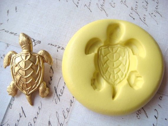 SEA TURTLE  Flexible Silicone Mold  Push Mold Jewelry by Molds, $6.00
