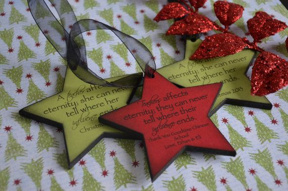 Personalized Teacher Christmas Gift  Under by PolishedProductions, $19.00
