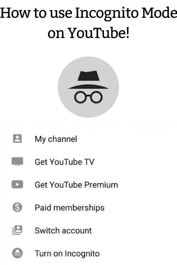 How To Use Incognito Mode On Youtube Youtube Science Technology Ads