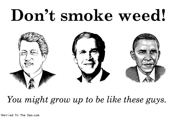 Comic by Married To The Sea: dont smoke weed