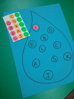 Here is a letter matching activity we did in the classroom last week in my 3 year-old classes. It was great for letter recognition and matching. Can also use numbers...