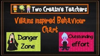 Two Creative Teachers - Fairytale Villains Theme Behaviour Management Chart This product contains posters that include the words: outstanding effort, awesome job, great work, ready to learn, stop and think, danger zone, teacher choice and parent contact.