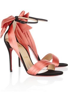 CHRISTIAN LOUBOUTIN Vampanodo 100 Suede and Sateen Sandals glamour shoes stilettoes fashion