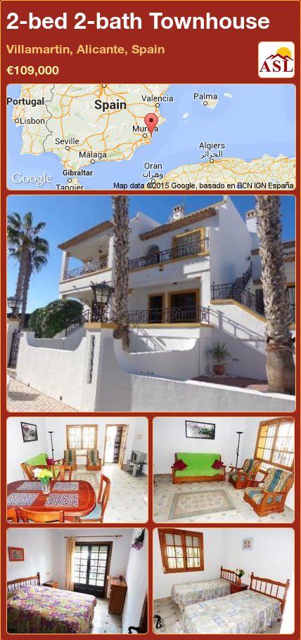 2-bed 2-bath Townhouse in Villamartin, Alicante, Spain ►€109,000 #PropertyForSaleInSpain