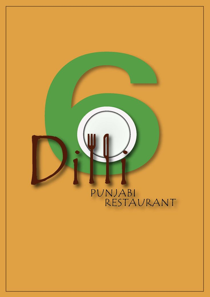 A creative logo for a North Indian Restaurant - Dilli 6