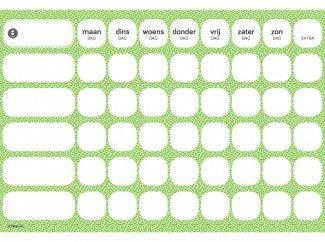 gezinnig weekly groen | gratis #weekplanner
