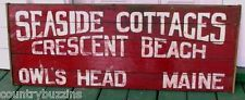 Owl's Head Maine Seaside Cottages Crescent Beach Sign