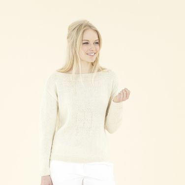 Beautiful new hand knits - The Etoile Sweater knitted in Sublime Natural Aran, a 100% wool yarn made in Yorkshire, England.