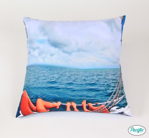 This cushion features girls sailing off Moreton Island printed on high quality non fade material.