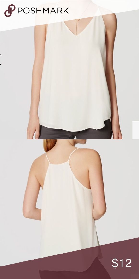 Petite Strappy cami Strappy cami, can be dressed up or down.  Great under blazers.  Off white, cream color.  New with tags. LOFT Tops Camisoles
