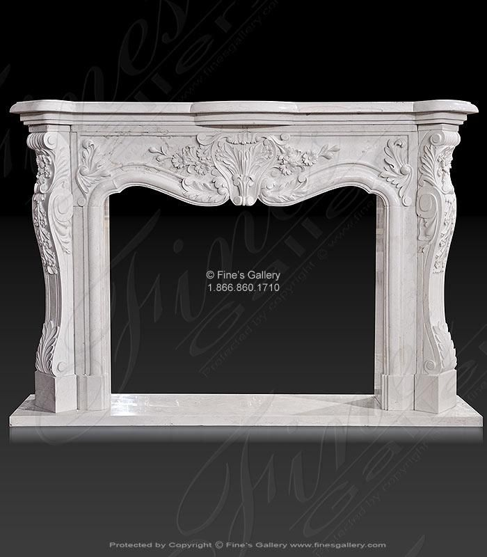 Marble Fireplaces – White Marble French Fireplace…