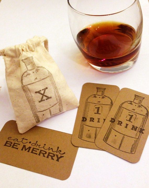 DRINK TICKETS: Wedding engagement company party by LOVEandQUIRKS