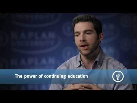 The Importance of Continuing Education - Jeff Weiner, CEO, LinkedIn     Jeff Weiner encourages Kaplan University students to use networking to create the best teams--ones that help us be successful in achieving our goals. He encourages us to be lifelong learners and to enjoy the benefits of increasingly accessible forms of education. He also stresses the importance of seeking out new experiences as a way to learn about yourself and define your vision.