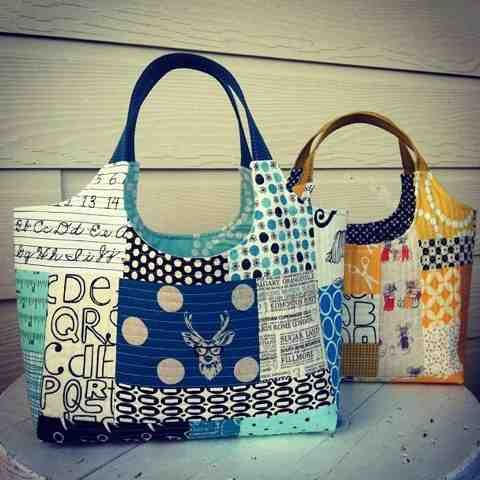 22 best Quilt As You Go images on Pinterest | Handmade handbags ... : quilt as you go tote - Adamdwight.com