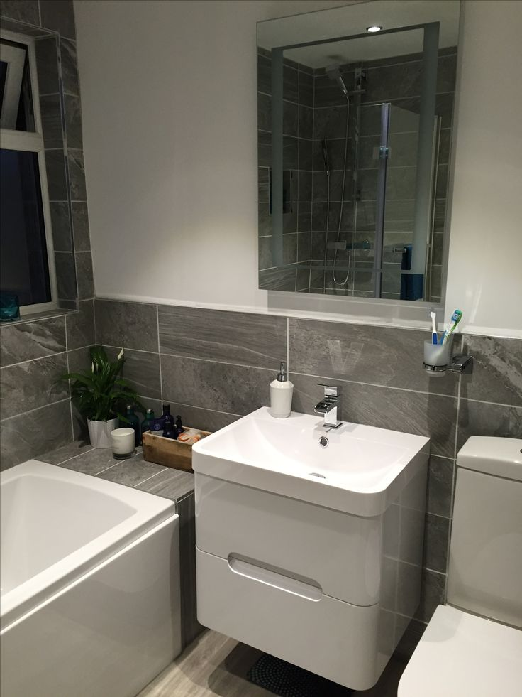 Cool tonal grey tiles against our bright white planet vanity unit. Beautiful use of some our favourite products Adrian. Love it! #lovewhereyoulive