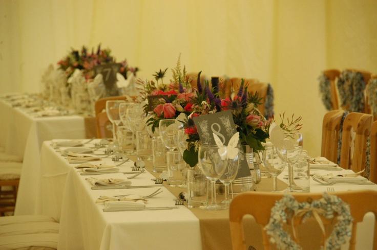 long rectangular tables