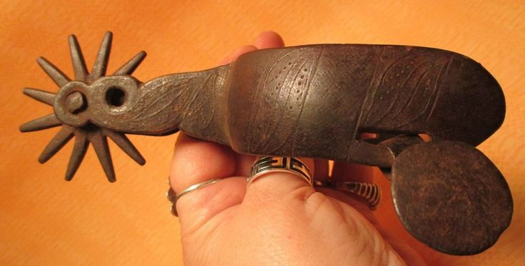 US $115.00 or BEST OFFER Used in Collectibles, Cultures & Ethnicities, Western Americana Here is a link: http://www.ebay.com/itm/1800s-Huge-Rowel-Heavy-FANCY-SHANK-ENGRAVED-Single-MEXICAN-Iron-SPUR-MAKE-OFFER-/141597319289?pt=LH_DefaultDomain_0&hash=item20f7dba079  We are OLDWEST on eBay