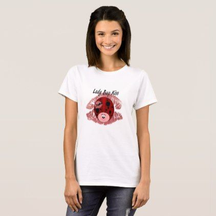 Lady Bug Kiss Logo Shirt - #customizable create your own personalize diy