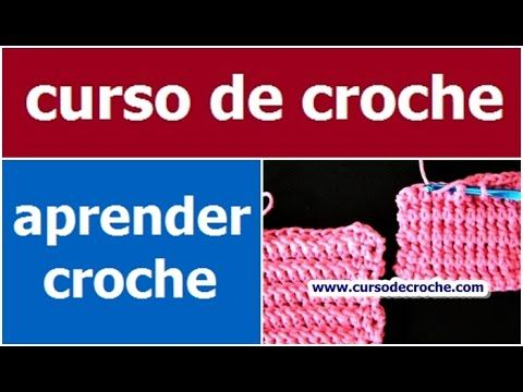 CURSO DE CROCHE AULA 046/081  PONTO BAIXO RELEVO PEGANDO POR TRAS PADRÃO 3
