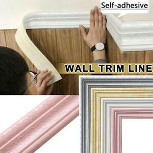 3D Self Adhesive Wall Trim Line Border Stickers Waterproof