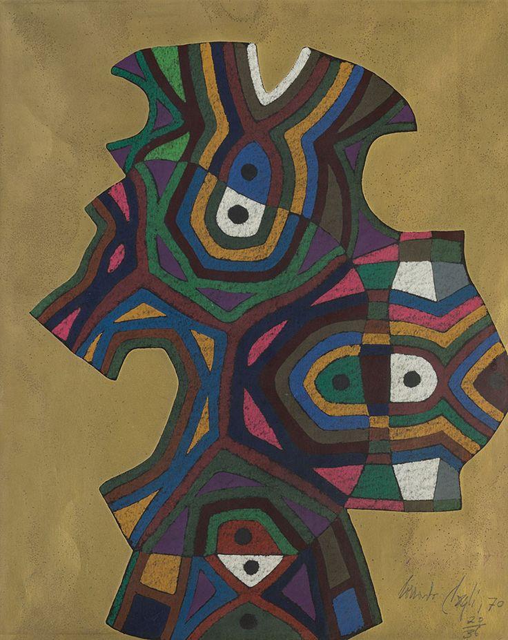 Corrado Cagli (Italia, Ancona 1910 - Roma 1976)  Composizione 1970