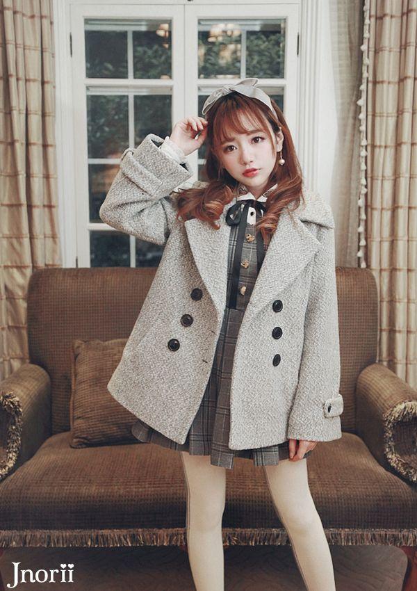 Kawaii winter school girl