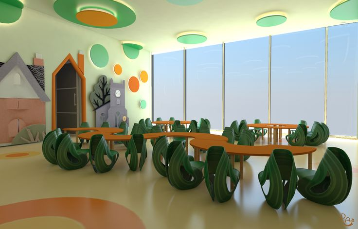 #multipurpose room  - interaction -   glass to outdoor to see street busy life #motivation     #daycare  #kids #space #interiordesign