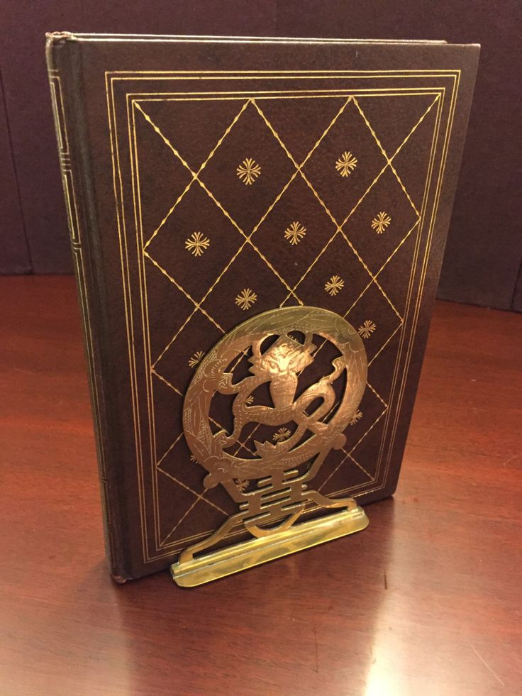 Vintage Asian Bookends Etched Brass Dragon Design matching pair for the Den - Study - Office by MyTravelingBoutique on Etsy
